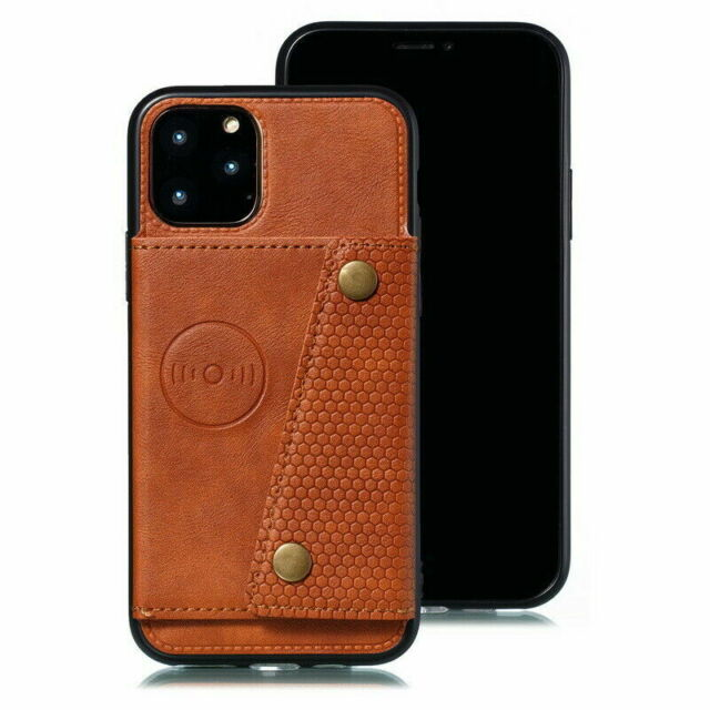 For iPhone 11 Pro Max 12 XS XR X 8 7 6s Case Flip Leather Wallet Slot Card Cover