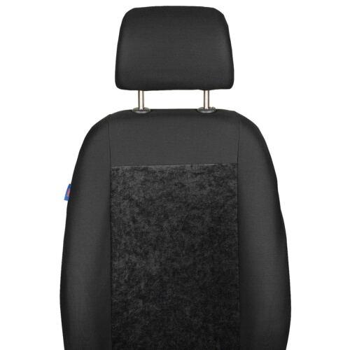 Schwarzer Velours Sitzbezüge für OPEL ZAFIRA Autositzbezug Set