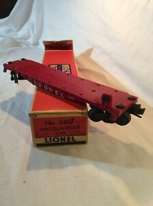 LIONEL-POSTWAR-6467-MISCELLANEOUS-CAR-BRICK-ORIGINAL-BOX-Car-Missing-Ends