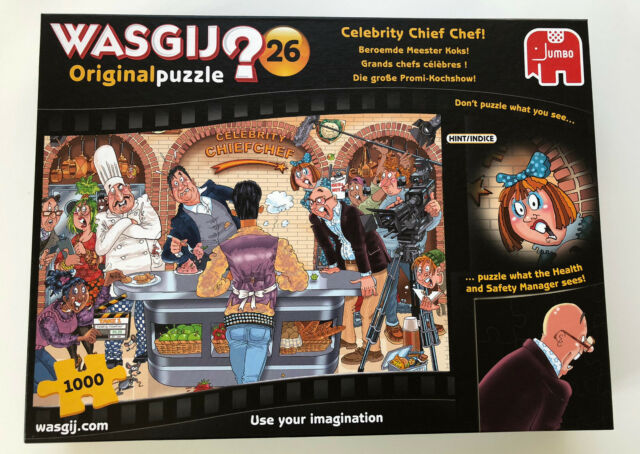 WASGIJ? Original 26 ~ Celebrity chef chef! ~ 1000 Piece Jigsaw Puzzle