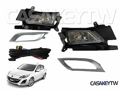NEW 2010-11 MAZDA 3 FOG LIGHT LAMP FOGLIGHT KIT SET PAIR FOGLAMP RH LH