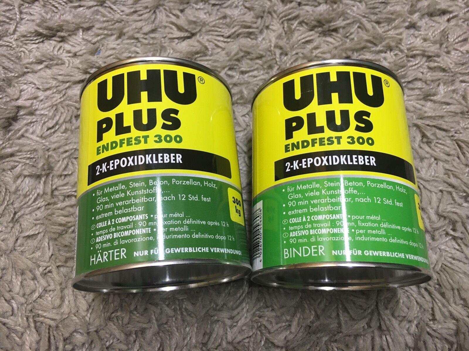UHU Endfest 300 300 300 Binder und Härter 1,655Kg  2K Epoxid Kleber 4ca457