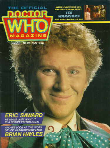 RARE Back Issue DOCTOR WHO MAGAZINE #94 COLIN BAKER 100s Listed