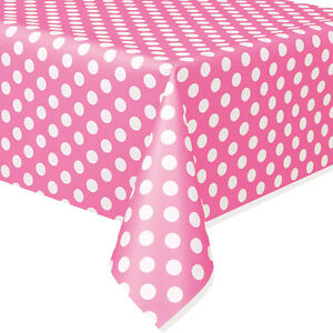 Image is loading Minnie-Mouse-Hot-Pink-Polka-Dot-Plastic-Table-  sc 1 st  eBay & Minnie Mouse Hot Pink Polka Dot Plastic Table Cover Birthday ...