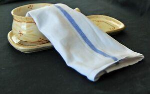 1 Dozen 100% Cotton Herringbone Blue Striped Dish Tea Towels /Glass /Barber