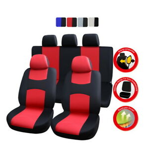 10-Part-Universal-Car-Seat-Covers-Front-Rear-Head-Rests-Full-Set-Auto-Seat-Cover