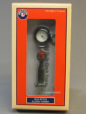 LIONEL OLD CLOCK TOWER W CHRISTMAS WREATH track scenery o gauge train 6-82005