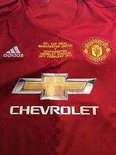 EFL CUP FINAL MATCH SHIRT DETAIL MANCHESTER UNITED