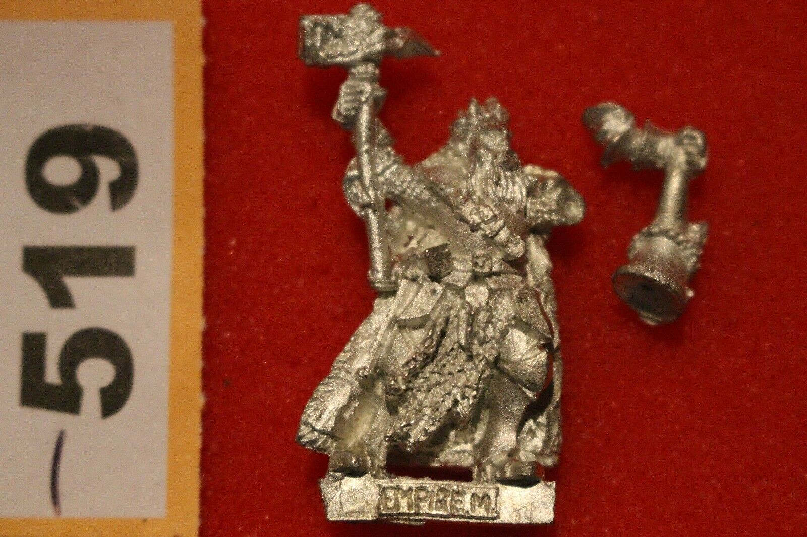 Warhammer Empire Mordheim Middenheim White Wolf Teutogen Musician Mint Guard OOP
