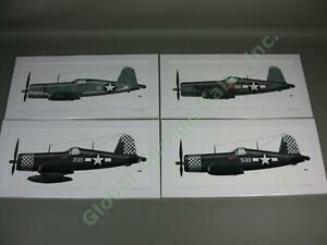 4-US-Marines-USMC-WWII-Chance-Vought-Corsair-F4U-Fighter-Airplane-Art-Print-Lot