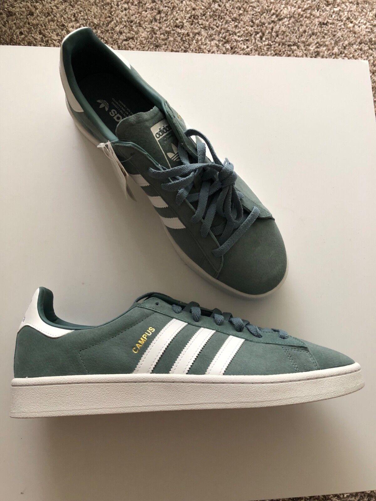 Adidas Originals Mens Campus Sneakers (US 13 Mint Green)