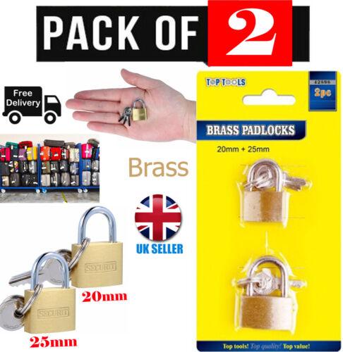 20 mm//25 mm Laiton Massif petit cadenas Mini Luggage Lock Sac de voyage valise Zip