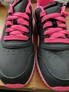 Reebok-Femmes-Chaussures-De-Course-Taille-3-5-Noir-Rose-ref-Chaussure-2