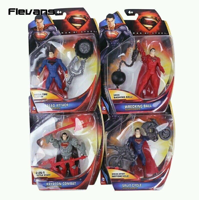 Dc comics   ensemble 4 figuren superman 10 cm aktion 4  dans emballage