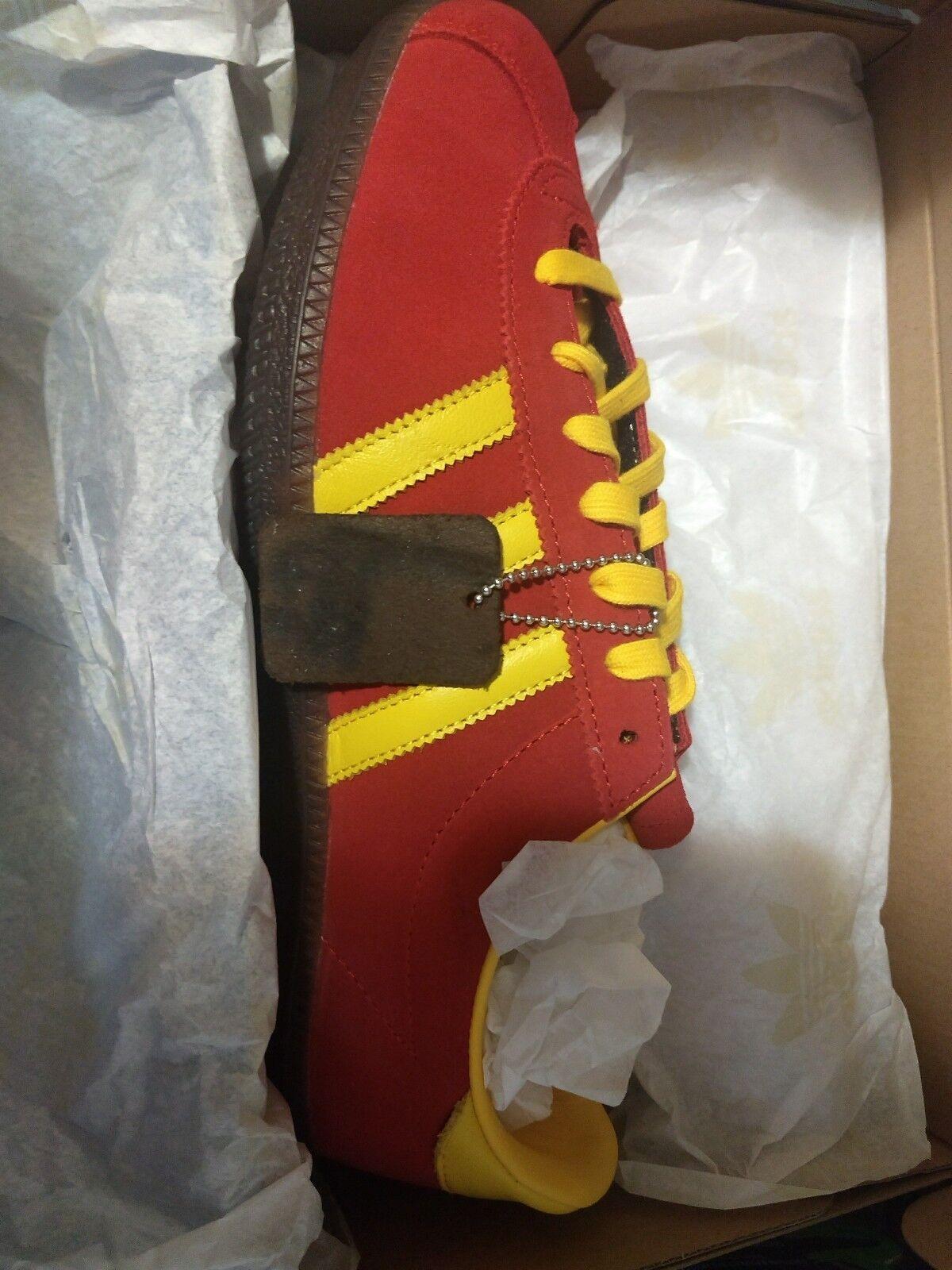 Retro Adidas Spritus Spezial CG2923 Mens Trainers Originals Sz 8.5 Red Yellow