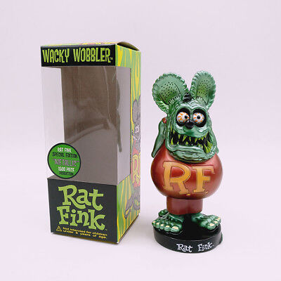Green Rat Fink Roth Ed Big Daddy Funko Bobblehead Wacky Wobbler Toy Gift Figure