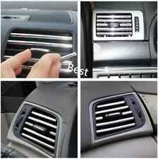 5 Chrome Car Air Vent Grill Grille Decoration Trim Strips Customising Bling 13cm