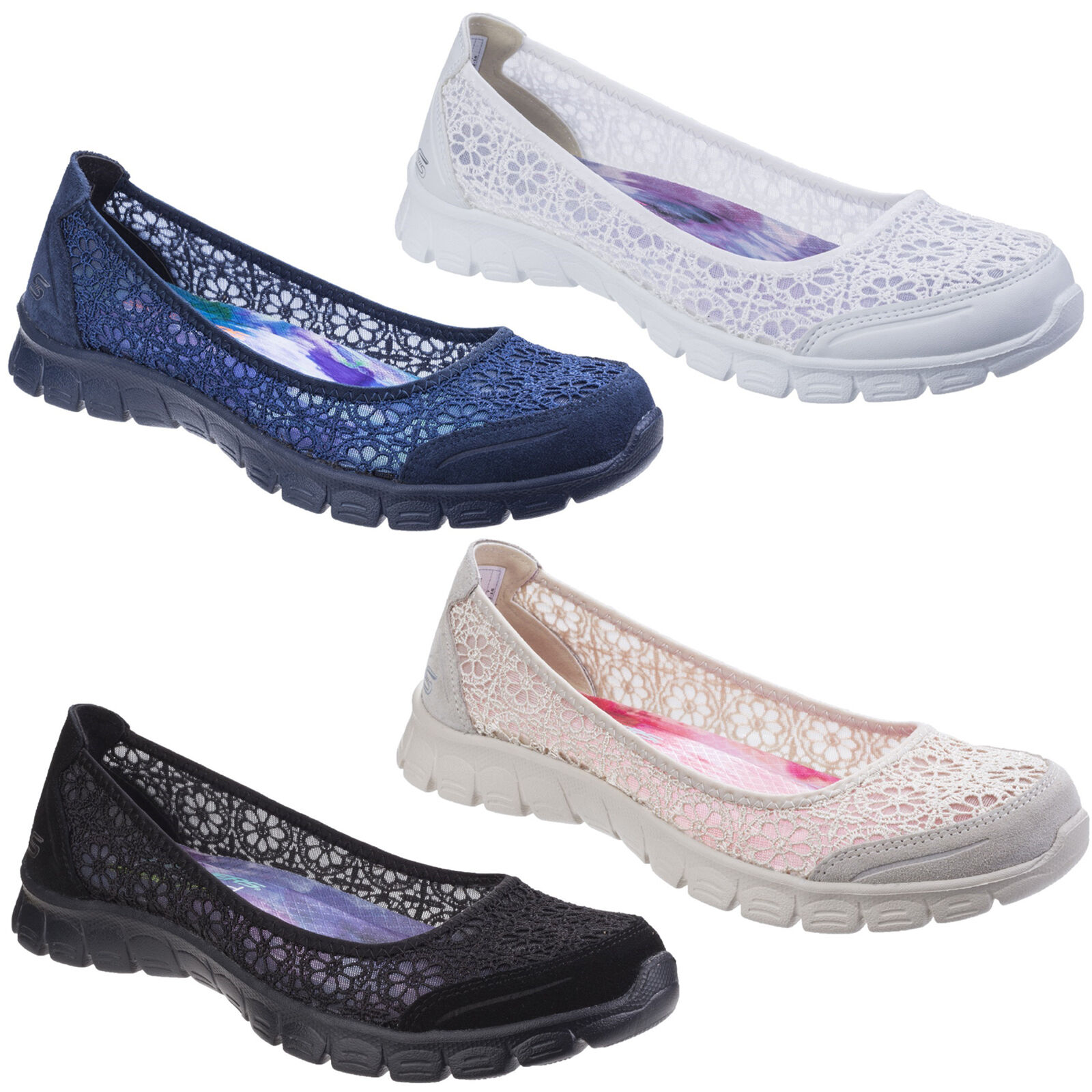Skechers EZ Flex 3.0 Majestät Foam Flache Damen Memory Foam Majestät Slip On Schuhe uk3-8 8db859
