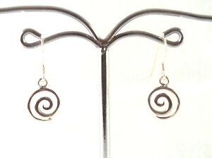 kleine-Spirale-Ohrringe-925-Sterling-Silber-Spiral-Ohrhaenger-Kinderschmuck-Neu