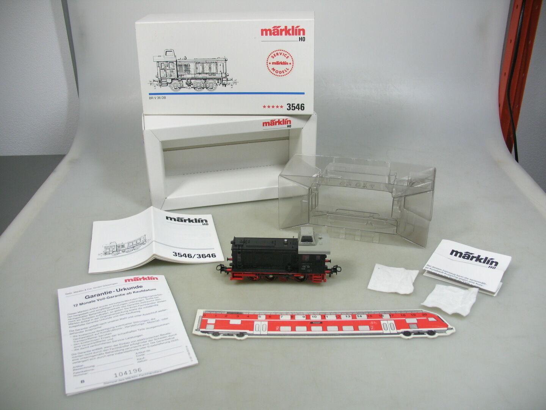 Ad449-1Märklin h0 ac diesellok br V 36 123 DB Service modelo 3546 top + embalaje original