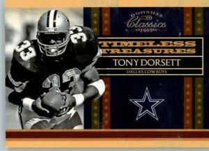 2008 Classics Timeless Treasures 0520/1000 #TT-2 Tony Dorsett- Cowboys