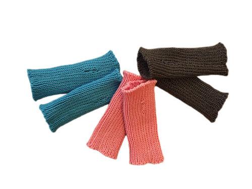 Arm Warmers 100/% MERINO WOOL baby toddler children knit knitted mittens gloves