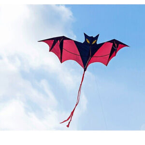 3D-Bat-Kite-Single-Line-With-Tail-Family-Outdoor-Sports-Toy-Children-Kids-Fun