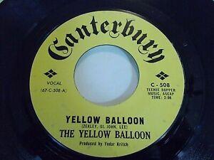 The-Yellow-Balloon-Yellow-Balloon-Noollab-Wolley-45-Canterbury-Vinyl-Record