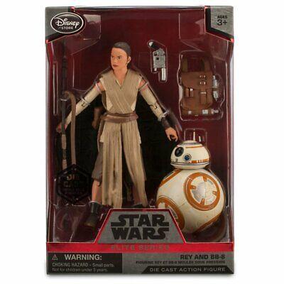 "Disney Store Star Wars Force Awakens Rey BB-8 Elite Series Figure 6/"" NIB"