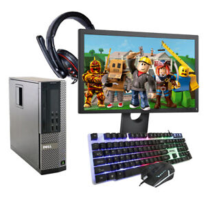 GAMING PC DELL HP COMPUTER WIDESCREEN BUNDLE WIN10 QUAD i3 16GB 500GB GT 730 -CR