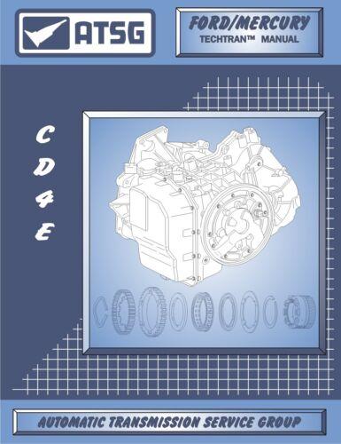 Ford CD4E ATSG Rebuild Book Transaxle Transmission Service Overhaul Manual Mazda