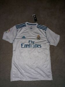 57442f078 2016 2017 Adidas Real Madrid Jersey Isco  22 white Mens large