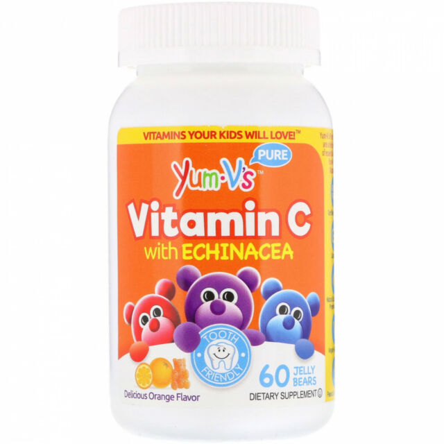 YumV's, Vitamin C With Echinacea, Delicious Orange Flavor, 60 Jelly Bears