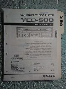 Details about Yamaha ycd-500 service manual original repair book stereo car  cd player radio