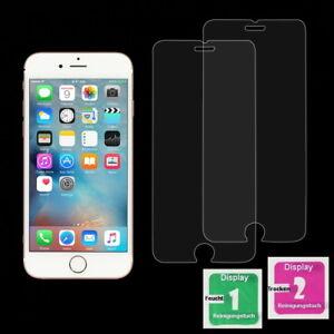 2x Apple iPhone 7 Plus Schutzfolie 9H Echt Glas Panzer Glasfolie Schutzglas