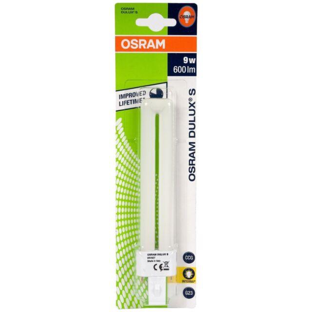 Osram 9w DULUX S Économie Énergie G23 2 Broches - 4000k Cool Blanc