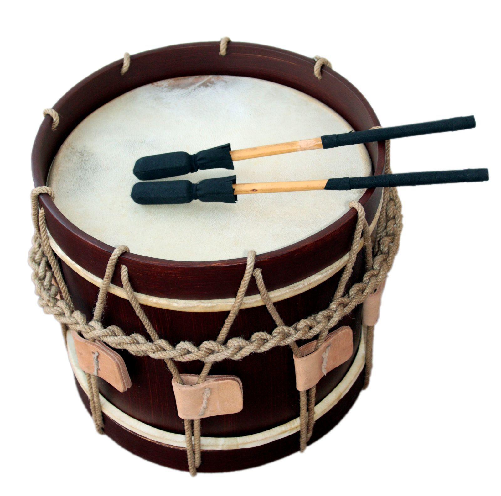 Landsknechtstrommel   Renaissance Drum, 13,5  x 13,5 , Dark braun