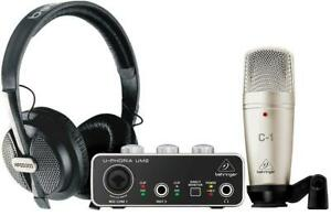 BEHRINGER-U-PHORIA-STUDIO-BUNDLE-INTERFACCIA-AUDIO-USB-UM2-MICROFONO-C1-CUFF
