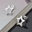 Fashion Charm Women 925 Silver Plated Hollow Out Star Ear Stud Earrings Jewelry