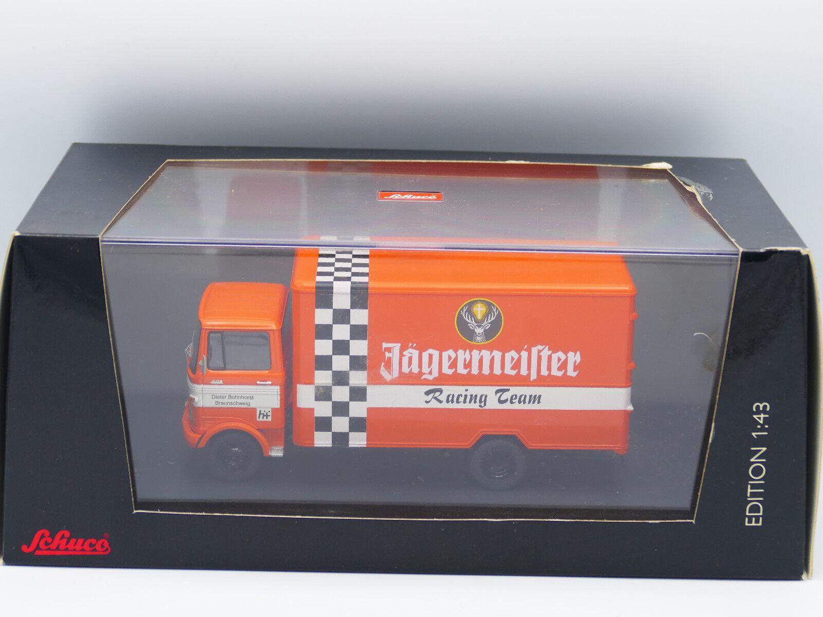 Schuco JAGERMEISTER Mercedes Benz LP608 Racing Team Truck
