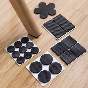 4 PCs Silicone Non-slip Chair Table Leg Covers Mats Feet Pad Floor Protector UK