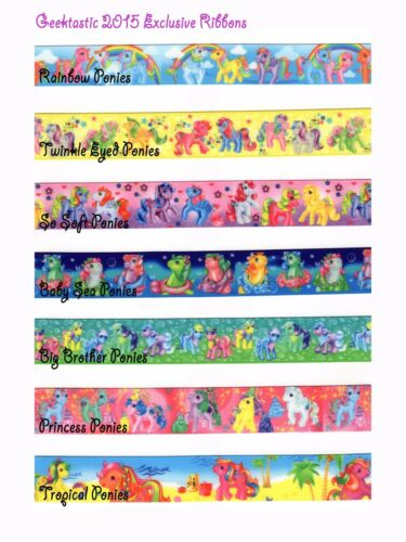 2015//16 Geektastic Exclusives My Little Pony G1 Grosgrain Ribbons 14 Designs