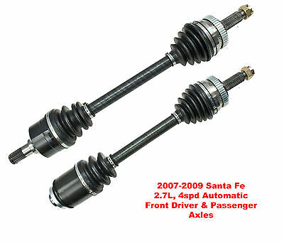 2 New CV Axles Front Left & Right Santa Fe 2.7L Automatic Only With Warranty