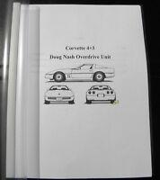 Corvette Doug Nash 4+3 Overdrive Corvette Manual