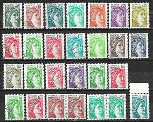 L099-Lot-27-Timbres-Marianne-SABINE-GANDON-1978-1979-1980-1981-SERIE