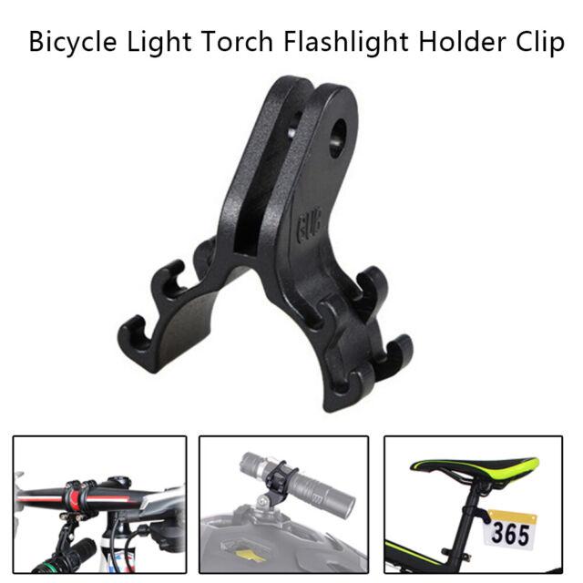 360-Grad-Drehung Fahrrad Radfahren Taschenlampe Halterung Klammern schwarz