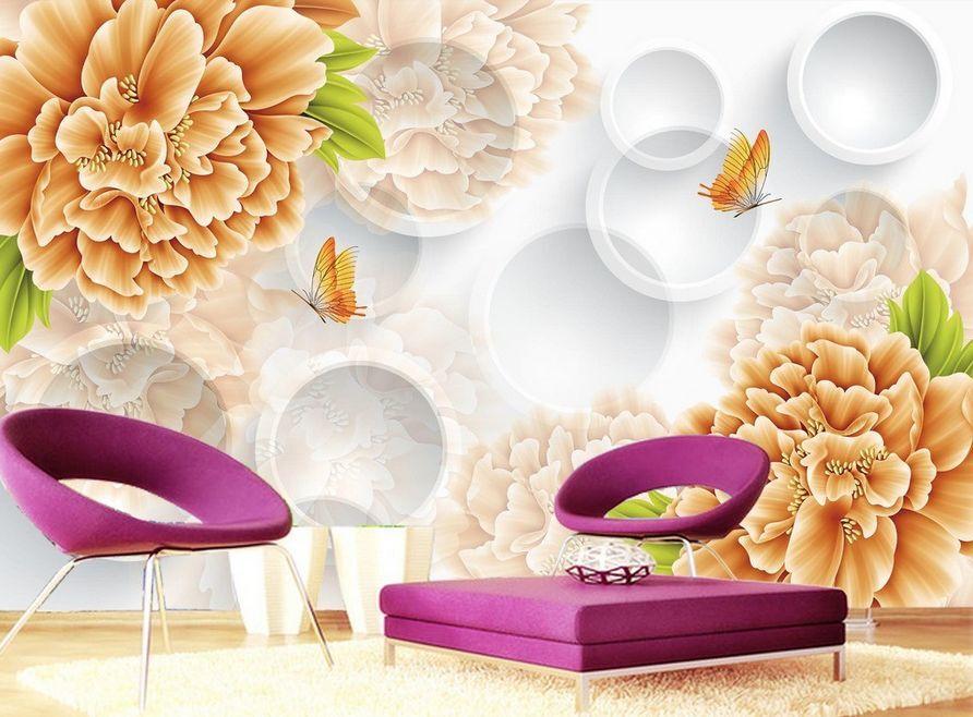 3D fioritura Parete Murale Foto Carta da parati immagine sfondo muro stampa
