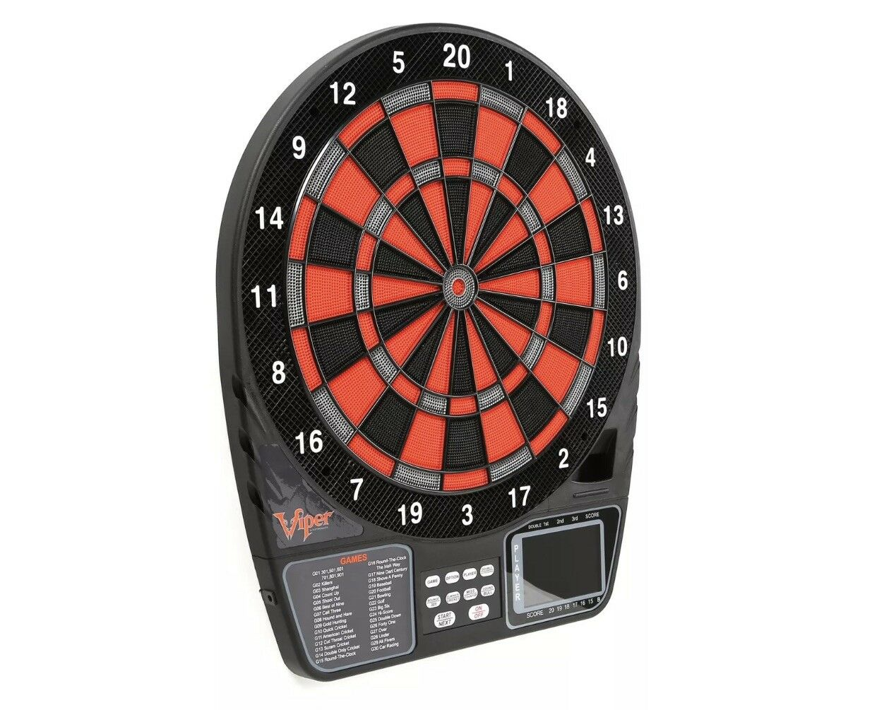 "Viper 797 Electronic Soft Tip Dartboard LCD Darts 15.5"" 1-16 Player Player 1-16 / 43 Games 3b198a"