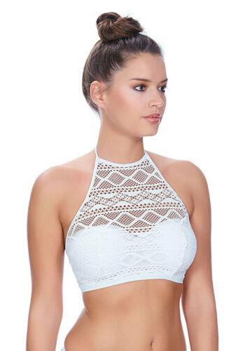 Freya Sundance Bikini Top Ferretto Bikini Collo Alto Crop Top 3973 Bianco Vari