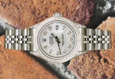 Ladies completamente caricata con quadrante diamanti, lunetta & Shoulders Rolex Datejust.